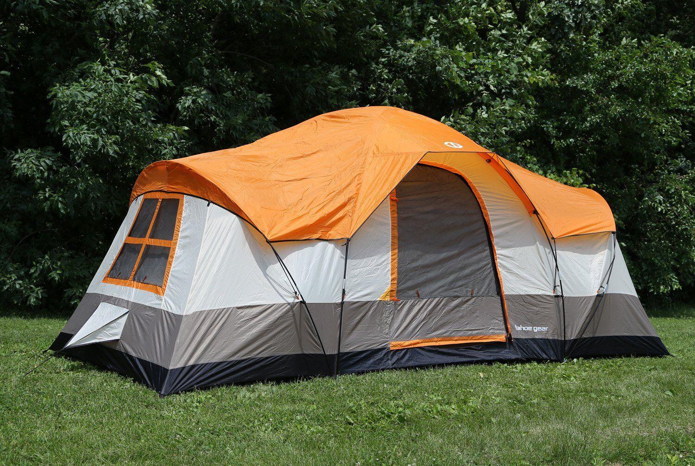 Tahoe Gear Olympia 10 Person 3 Season Tent, orange Ivory   TGT-OLYMPIA-10-B