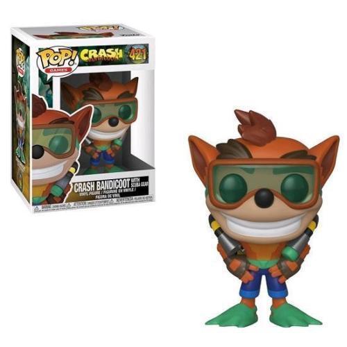 "Crash Bandicoot avec Scuba gear 3.75/"" Pop Vinyl Figure Pop Jeux Funko 421"
