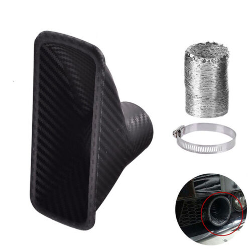 1X Car Turbo Air Intake Port Kit Front Bumper Opening Air Inlet Loom Tube Clamp