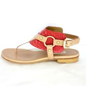 reputable site 3c2f5 8b647 Details about Dei Mille Ladies Summer Sandals Sneakers Red Braun Leather  Shoes Np 219 Neu