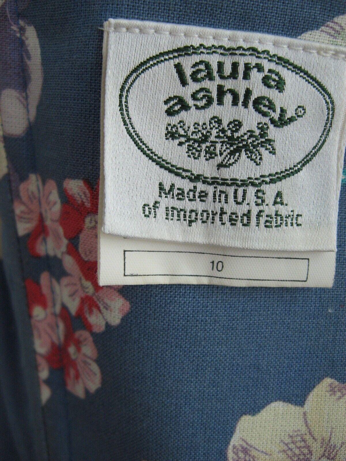 VINTAGE 80s 90s LAURA ASHLEY DRESS STRAPLESS SUND… - image 9