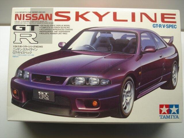Tamiya 1:24 Scale Nissan Skyline GT-R V-Spec 1995 Model Kit - New #24145*1500