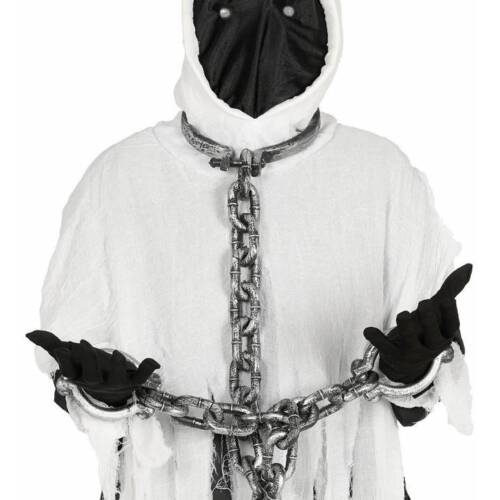 Neck and Hand Shackles 110 cm Prisoner Ball Chain Halloween Fancy Dress