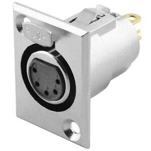 Audio-Mikrofon-Einbaukupplung-Einbaubuchse-Ersatzbuchse-5polig-zum-Einbau-Pin
