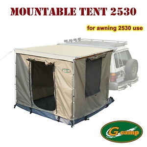 G CAMP MOUNTABLE TENT 2.5M X 3M AWNING ROOF CAMPER TRAILER ...