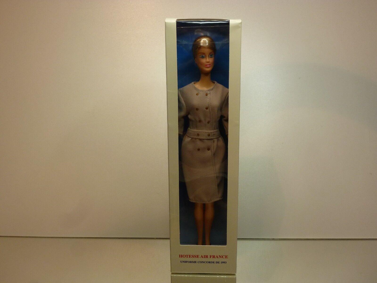 NOREV DOLL  HOTESSE AIR FRANCE UNIFORME CONCORDE 1993 - RARE - UNUSED IN  BOX