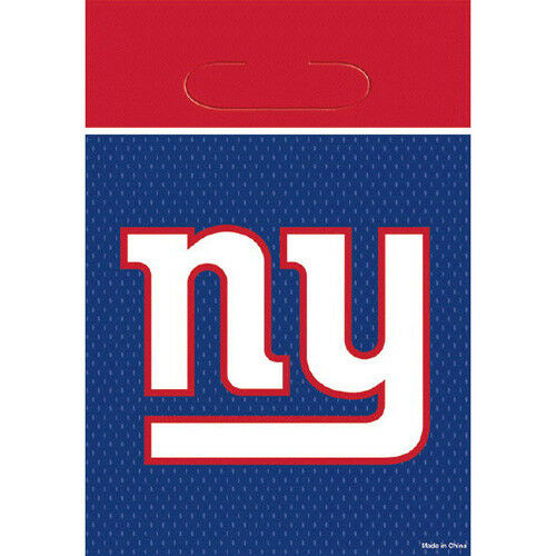 NFL NEW YORK GIANTS FAVOR BAGS 8 ~ Birthday Party Supplies Treat Loot Goody
