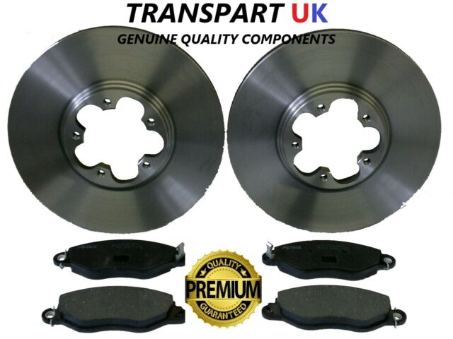 FORD TRANSIT MK6 2.4 RWD FRONT BRAKE DISCS AND PADS 2000 TO 2006 PREMIUM QUALITY