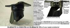8 X 2 Swivel Kingpinless Drop Forged Towing Caster 10 Mph 3300 Lb Each