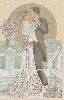 Art Deco Couple The Wedding Counted Cross Stitch COMPLETE KIT No. 1-117
