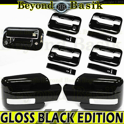 Chrome Covers For Ford F150 2009-2014 Full Towing Mirror+Tailgate Keyhole Camera