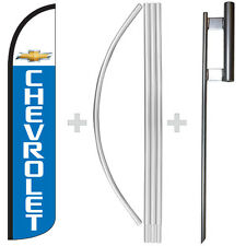 Chevrolet 15 Tall Windless Swooper Feather Banner Flag Amp Pole Kit