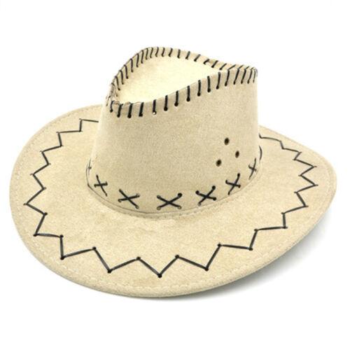 Unisex Cowboy Bucket Brim Western Knight Hat with Cord Felt Fancy Wide Brim PlF