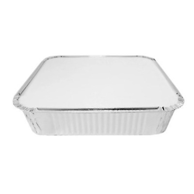 "Foil Baking Trays Large Tray Bake Containers Aluminium Disposable 12/"" x 8/"" BF055"