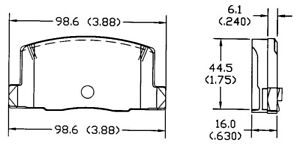 Disc Brake Pad Set-Sedan Rear OMNIPARTS 13054066