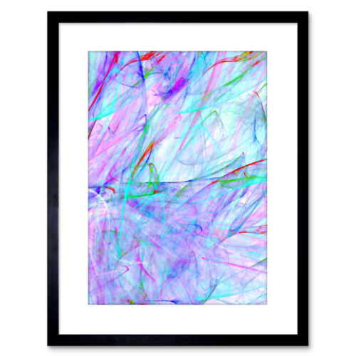Pintura bajo mar abstracto impresión colorido enmarcado impresión 9x7 pulgadas
