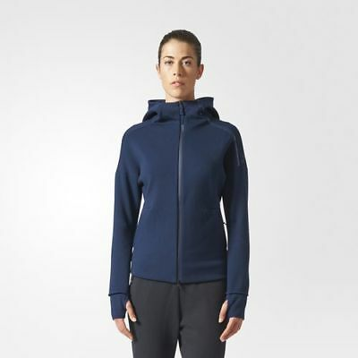 Adidas BR1927 Women ATHLETICS ZNE Hoodie Track Top Jacket navy | eBay