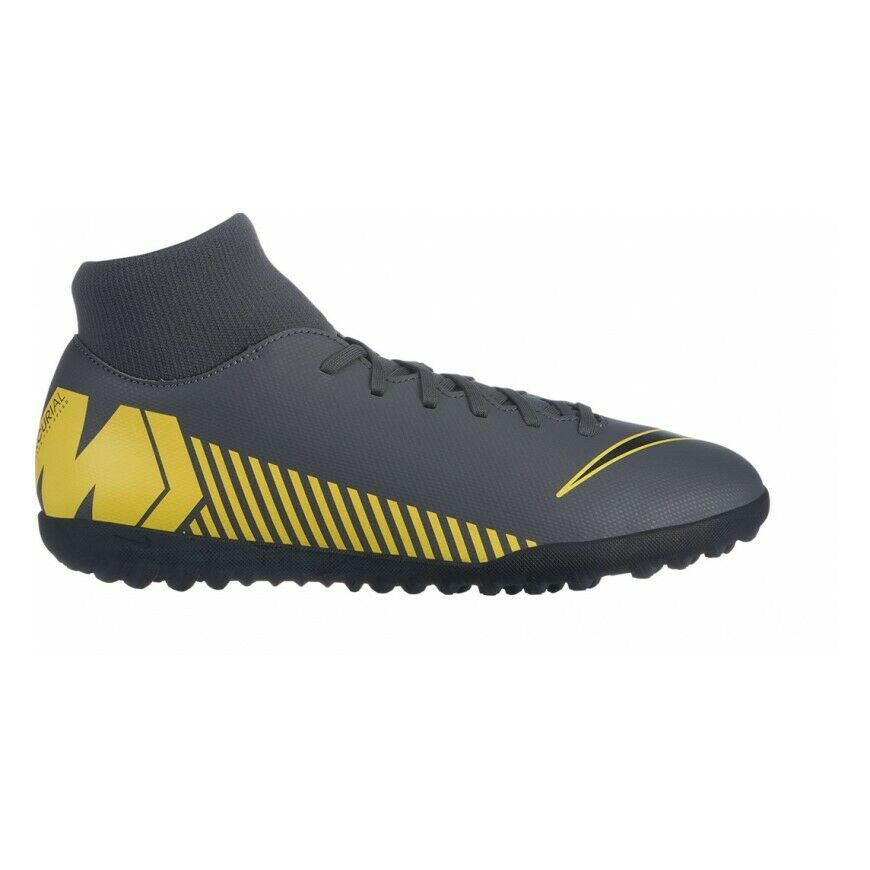 Zapatos Nike Fútbol Sala súperfly 6 Club Tf AH7372 070 gris Oscuro Alto Calcetín