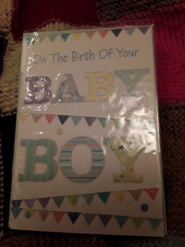 Naissance de Bébé Garçon Carte de vœux