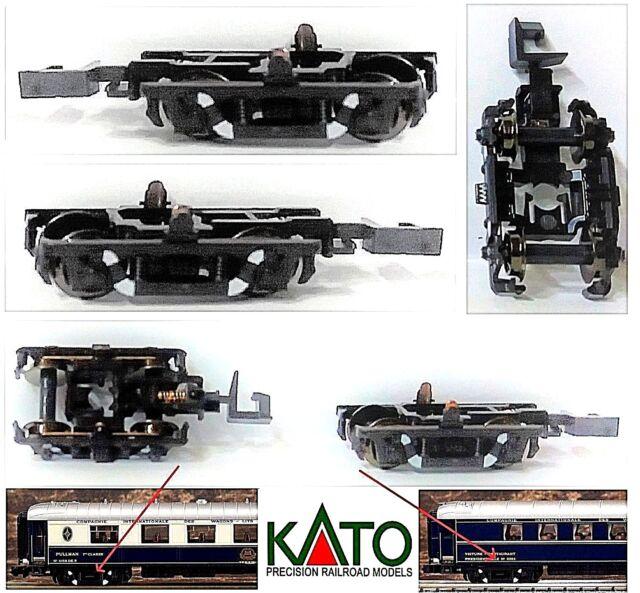 KATO N.2 CHARIOTS BOGIE avec PRISE électrique pour ORIENT EXPRESS CIWL SNCF