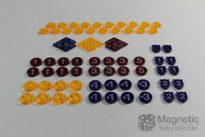 Key Forge Amber Stun Shield Wound KeyForge Token Set aus Acryl 69 Teile