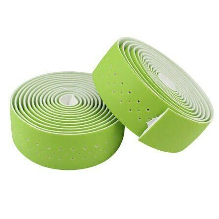 Bicycle Handlebar Tape Road Bike With Leather Perforated Belt Breathable Soft