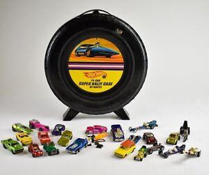 Vintage-Mixed-Lot-of-Hotwheels-Redline-Cars-w-Case-NO-RESERVE