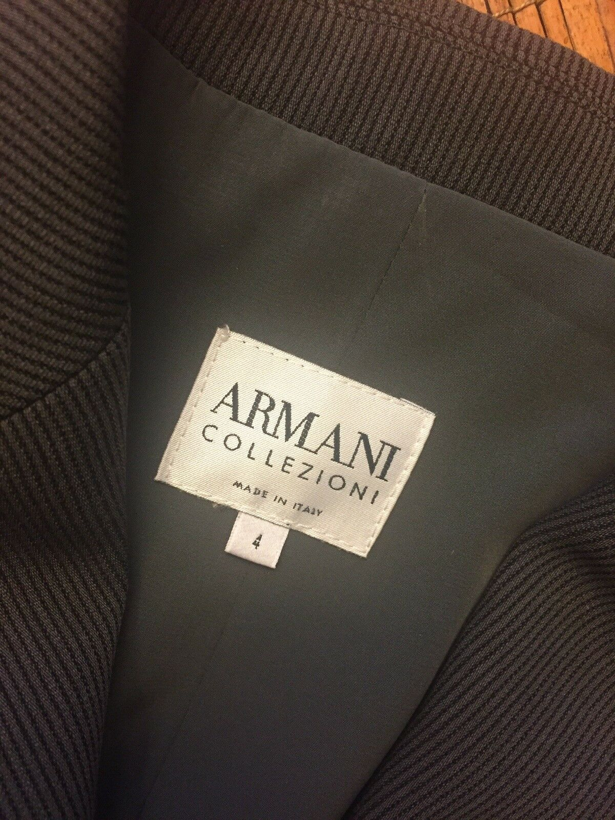 Armani Collezioni Womens 40 Blazer Wool Long Sleeves Collared Made Made Made In  4 S 7aae51