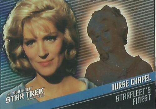 "Quotable Star Trek TOS F8 ""Nurse Chapel"" Starfleet's Finest Chase Card #191399"