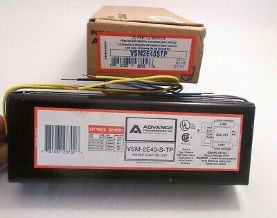 Advance Vsm-2e40-s-tp Instant Start Ballast 277v Prepaid Shipping (vsm2e40stp)