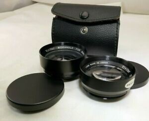 Vivitar-Telephoto-amp-Wide-angle-Lens-for-Mamiya-528TL-52mm-threaded-screw-in-AUX