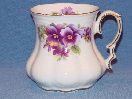 Purple Pansy   Large Mugs for your Tea, MADE IN USA !