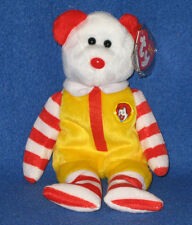 TY FULL SIZE RONALD McDONALD the BEAR BEANIE BABY - MINT with MINT TAGS