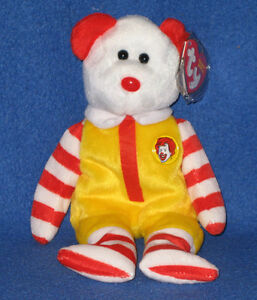 8a531354127 TY FULL SIZE RONALD McDONALD the BEAR BEANIE BABY - MINT with MINT ...