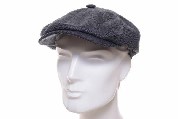 Stetson Hatteras silk grau Ballonmütze Seide Swing Kappe Schild Mütze Cap