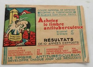 Carnet-TIMBRES-Antituberculeux-1930-COMITE-NATIONAL-DEFENSE-CONTRE-TUBERCULOSE