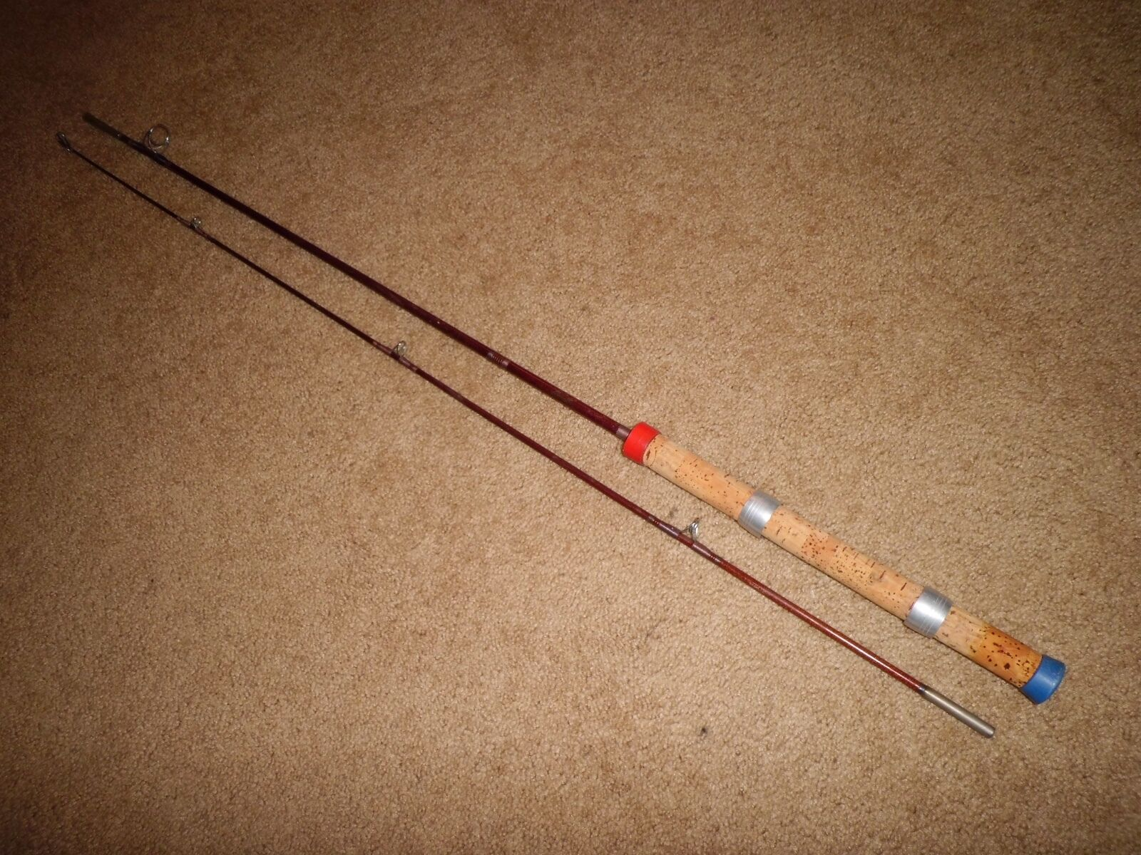 Vintage Bristol Nyglax Spinall Spinning 6-1 2' Rod made in USA