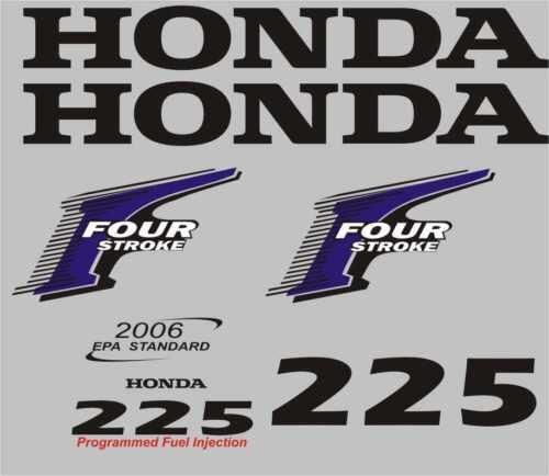 Adesivi motore marino fuoribordo Honda 225 hp four stroke gommone barca