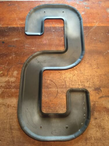 """24/"""" NOS USA Vintage METAL LETTER /""""S/"""" Wall Art Industrial Marquee Sign"""