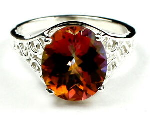 Twilight-Fire-Topaz-925-Sterling-Silver-Ladies-Ring-SR057-Handmade
