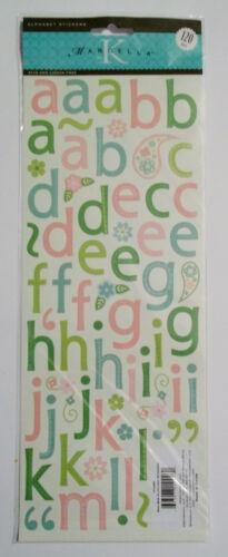 Alphabet Stickers 120 Pcs Pink /& Green  K /& Company 4 x 12 Inches  NIP
