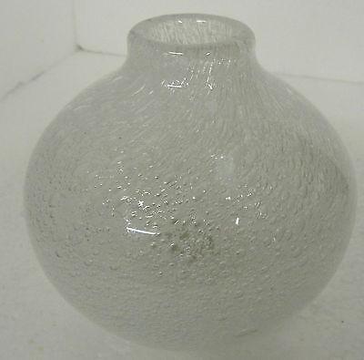 Bauchige Schaumglasvase, Luftblasen, Unsigniert,ca:h 12cm,dm 12cm,1080 Gr