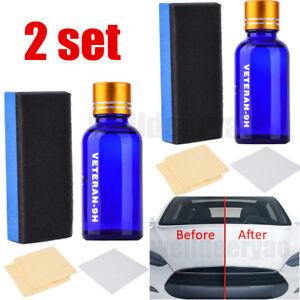2X-9H-Liquid-Ceramic-Car-Coating-Super-Hydrophobic-Glass-Polish-Wax-Auto-Paint