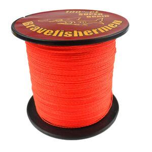 Pro orange bravefishermen 100 1000m 6 300lb test dyneema for Orange fishing line