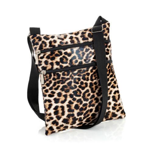 Brown Animal Leopard  Print Hip Bag Purse Cross Body Shoulder Strap Bag