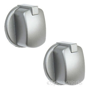 INDESIT Genuine Oven Cooker Knob Silver Inox FIM33K.AIX-T ...