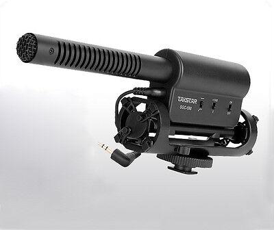 Camera Shotgun Directonal Stereo Microphone for DSLR Canon Nikon Pentax Olympus