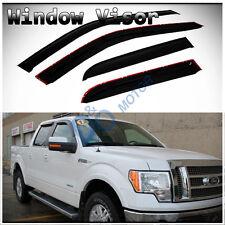 4pcs Smoke Sun/Rain Guard Vent Shade Window Visors Fit 09-14 Ford F150 Crew Cab