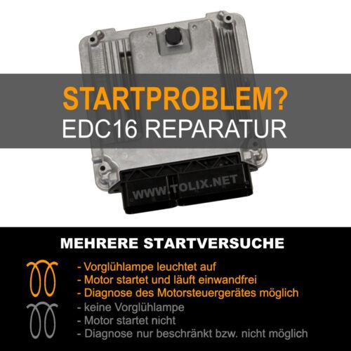 SERVICE für VW T5 TDI Motorsteuergerät 038906016xx 038 906 016 xx Reparatur