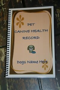 pet canine health dogs shot vaccination and vet record book